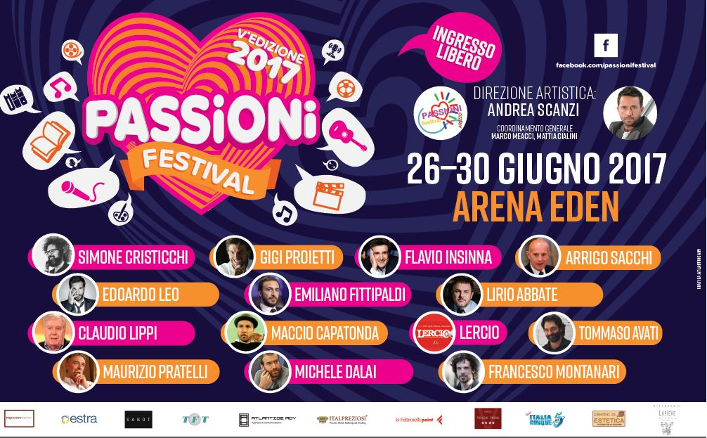 Passioni Festival Estate 2017